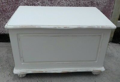 Shabby Chic, Solid Pine, White Trunk, Chest, Blanket Box, Toy Box