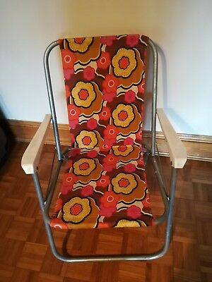 3 x Retro Vintage Folding Patio Garden Deck Chairs Camping VW Campervan