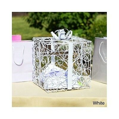 White Card Holder Box Wedding Receptions Gift Container Basket Bridal Decoration