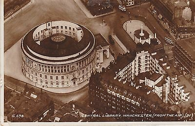 Central Library, Manchester Aerial View. Valentine's 1928-1951