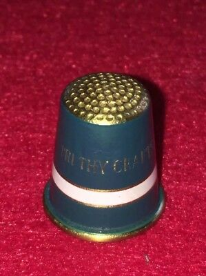 Messing Fingerhut Brass Thimble Tri Thy Crafts
