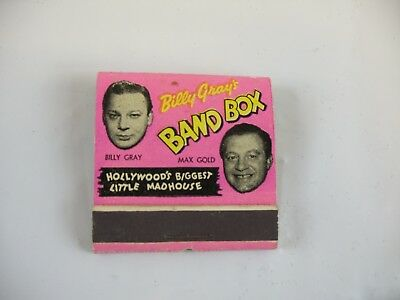 Billy Gray's Band Box Hollywood's Biggest Little Madhouse matchbook