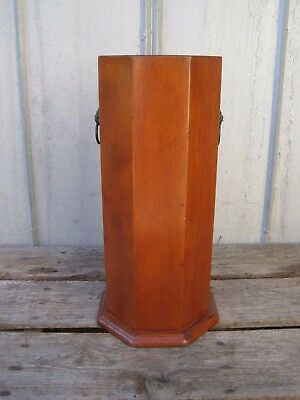 Vintage Colonial Style Primitive Umbrella Cane Walking Stick Stand A7290