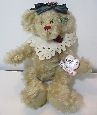 Annette Funicello Victorian Jointed Bear by Collectible Bear Co. with Collar&Bow