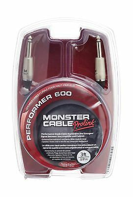 Monster Performer 600 Speaker Cable 3-Feet Straight 1/4-Inch Plugs