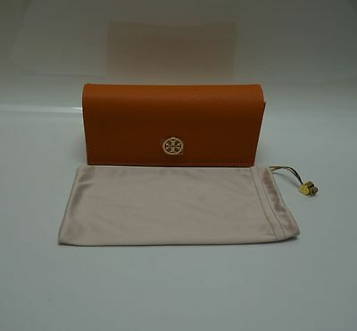 Tory Burch Case Orange Leather w/ Cleaning Pouch Sunglasses -100% Authentic RG11