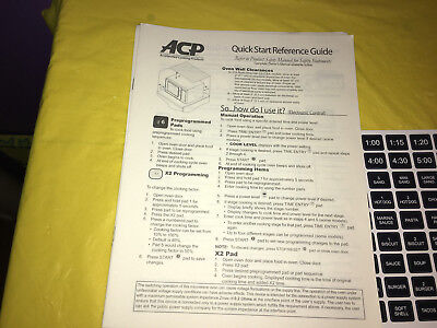 Amana Accelerated Cooking Products Commercial Instruction Manual & Button Labels