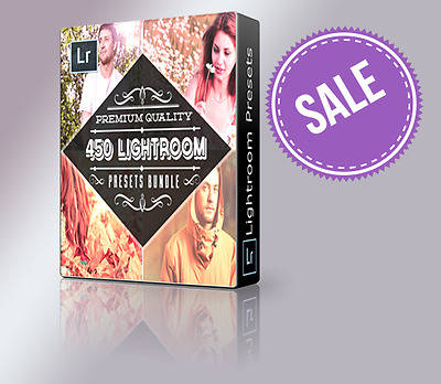 450+ Beautiful One-Click Lightroom Presets for Designers & Photographers