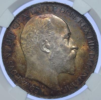 Edward VII - 1902 Crown NGC Graded MS 63+ - exceptional tone