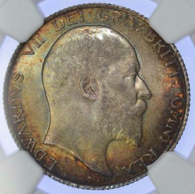 Edward VII - 1902 Shilling NGC Graded MS 65 - exceptional tone