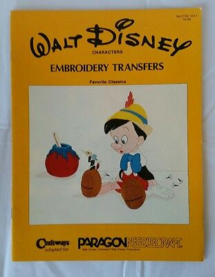 Walt Disney Characters Embroidery Transfers - Favorite Classics -VGC