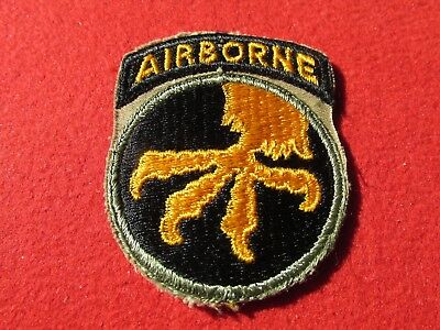 17TH AIRBORNE INFANTRY DIVISION patch Operation Varsity Battle of the  Bulge