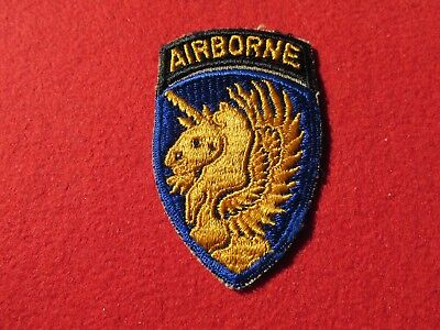 13th Airborne patch with attached tab Operation Varsity  517th PIR