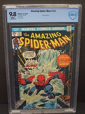 Marvel Amazing Spider-Man #151 1975 Cbcs 9.8 White Pages John Romita Cover