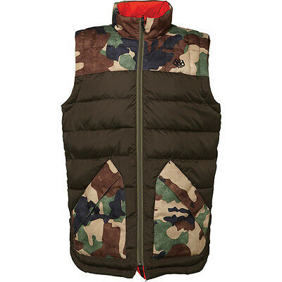 686 Airflight Men's Insulated Polyquilt Vest - Coffee/Camo  -- XL
