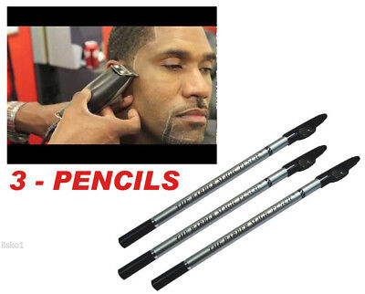 The Barber's Magic Pencil, Use for outlining before trimming and shaving 3-penc