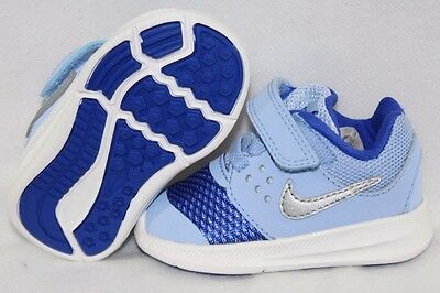b671dbda34 NEW Infant Toddler Girls NIKE Downshifter 7 869971 400 Pale Blue Sneakers  Shoes