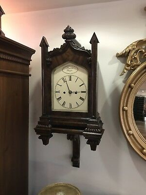 Superb Mahogany Double Fusee Bracket Clock & Original Bracket. Offers?