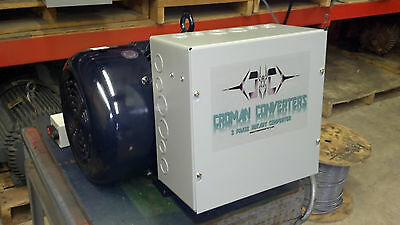 60HP 3 PHASE CNC ROTARY PHASE CONVERTER 10 year warranty!