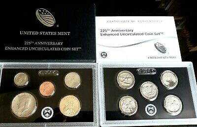 In Stock 2017 S 225Th Anniversary Enhanced Uncirculated 10 Coin Set 17Xc 2017-S