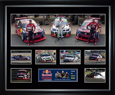 Triple Eight RedBull Holden Racing Team Limited Edition Framed Memorabilia
