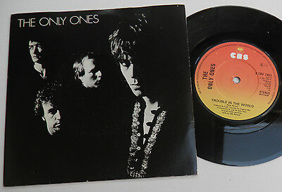 "The Only Ones-Trouble In The World-UK 7""-Oz Garage KBD Punk Wave-1979-HEAR"