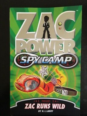 Zac Power Spy Camp Zac Runs Wild H I Larry Softcover