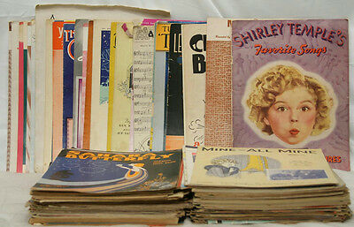 Huge Lot Of Vintage Antique Song Book Booklets Church Holiday Shirley Temple