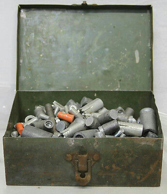 Vtg Star Tampin Lot Of Assorted Size Masonry Concrete Screw Anchors W/ Metal Box