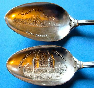 Antique Rare Vancouver and Port Arthur Sterling Silver Tea Spoons 1890-1905