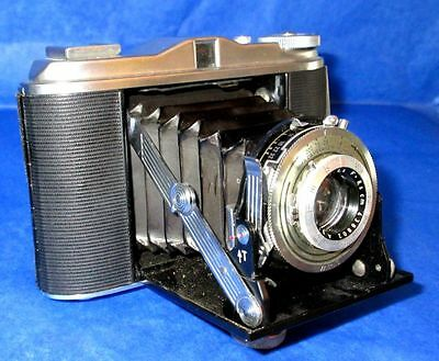 ISOLETTE AGFA Vintage Camera with AGFA AGNAR 1:4.5 8.5cm Lens Germany