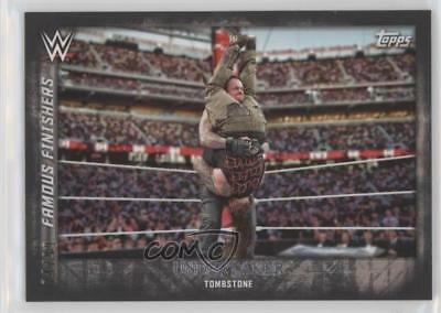 2015 Topps WWE Undisputed Famous Finishers Black 5 Undertaker Wrestling Card g3c