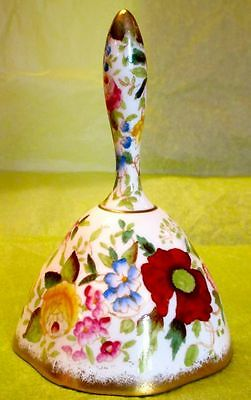 Hammersley & Co Stunning QUEEN ANNE Hand Painted Flowers Bone China Dinner Bell