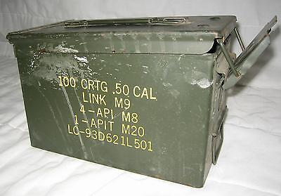 50 Cal Military Ammo Metal Storage Box M2A1