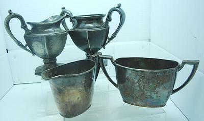 Vintage Silver Plate Community Creamer/Sugar Bowl & Quadruple Creamer/Sugar Bowl