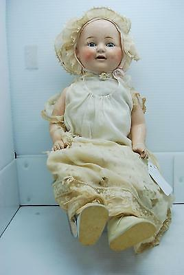Antique 1920's E.i. Horsman Composition Baby Doll W/teeth