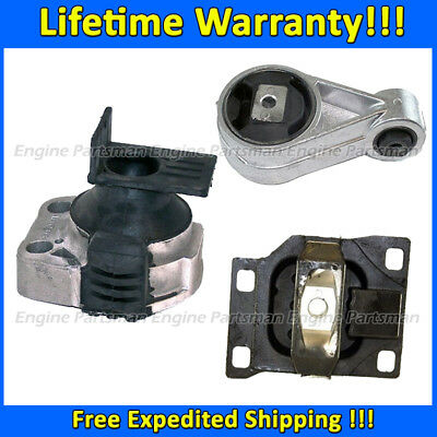M1347 For 05-07 Ford Focus 2.0 AUTO Trans Motor /& Trans Mount Set 2939 5495 2986