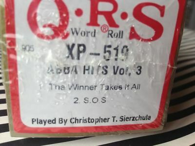 ABBA HITS  3:  Winner Takes It all & S.O.S.NEW L/ PLAY PIANOLA PLAYER PIANO ROLL