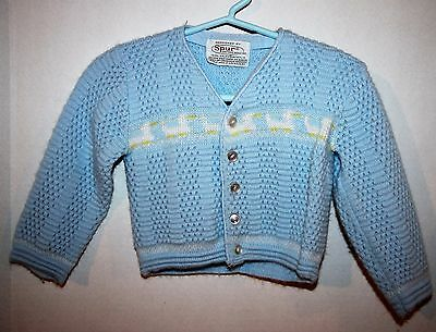 Vintage Spur Knitting Mills Blue Acrylic Sweater Boys' Size 2T/3T