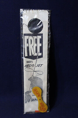 Vintage Dad's Root Beer Advertisement Helio Jet Novelty Promo Toy In Packaging
