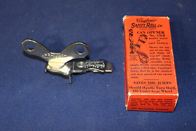 Rare Vaughan's Safety Roll Jr Can Opener in Original Box Excellent 1920's Era