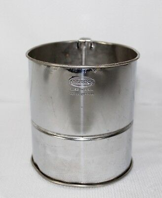 Vintage Androck Flour Triple Screen Sifter With Black Handle Made In USA