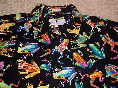 English Sports Shop Bermuda Amphibian Funky Color Men's S/S B/F Cotton Shirt Sz