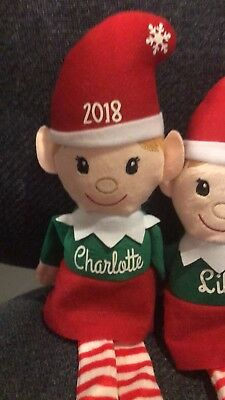 Plush Elf For your shelf personalized with any name girl and boy options