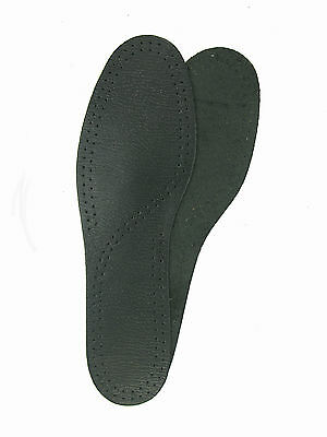 Shoe & Boot Leather insoles Black