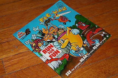 Talking Story Book and LP PacMan Run for Fun Kids Stuff  Records Rare New Sealed