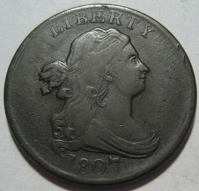= 1807 VF+ Half Cent, Super EYE Appeal, FREE Shipping
