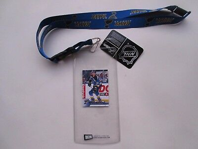 St Louis Blues Lanyard With Ticket Holder Plus Collectible Player Card