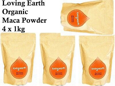 4 x 1kg LOVING EARTH Raw Organic Maca Powder  ( total 4kg )