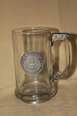 United States House Of Representatives Glass And Pewter Beer Mug 5701